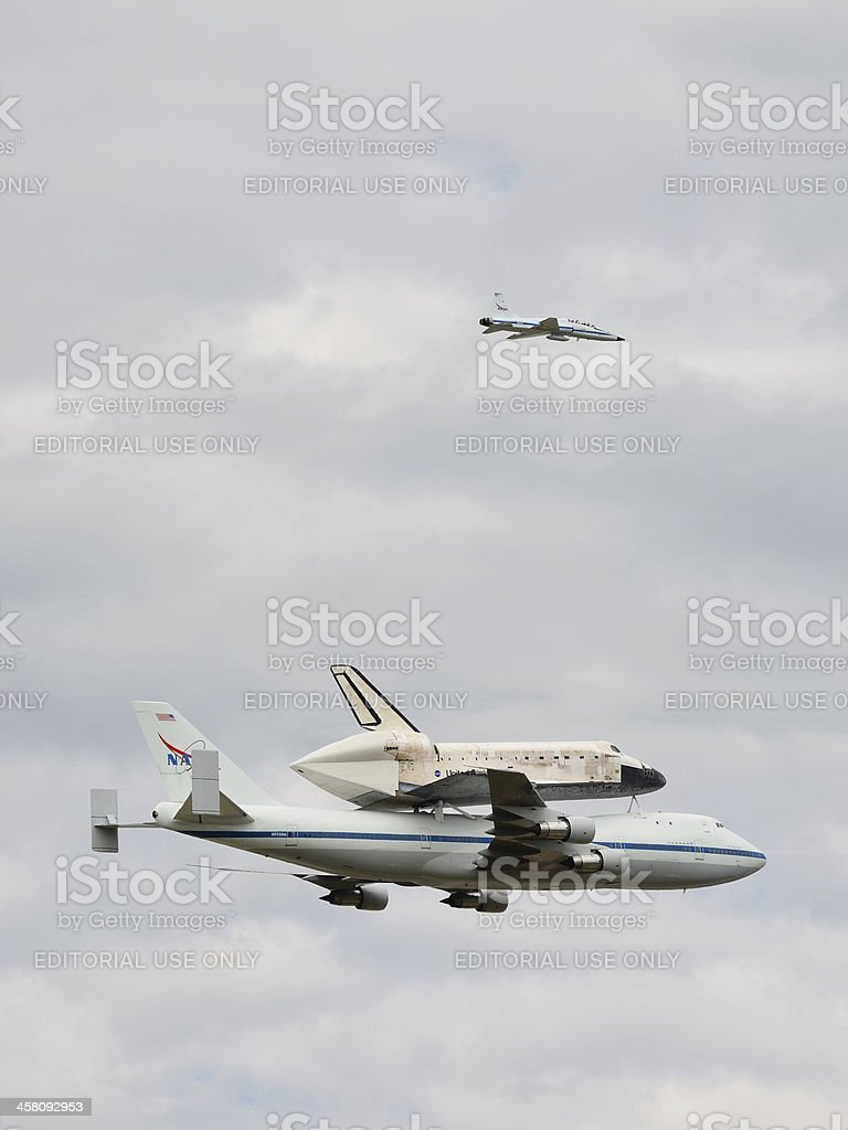 Space Shuttle Discovery stock photo