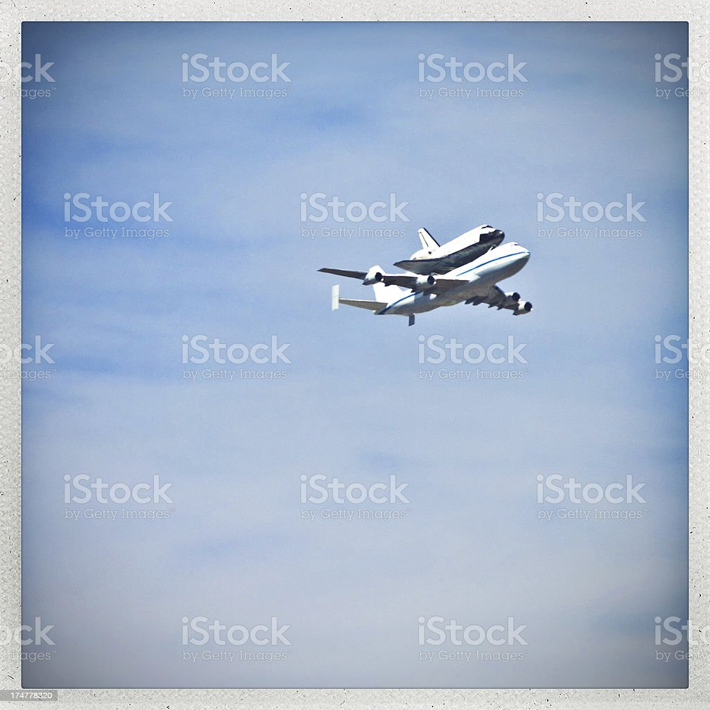 space shuttle endeavour stock photo