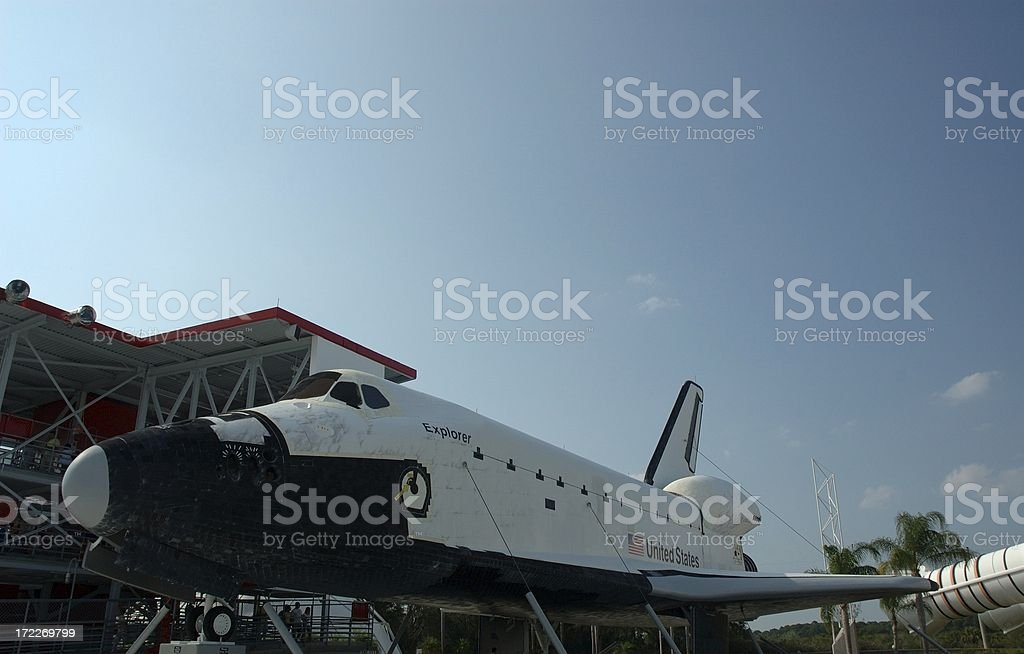 Space Shuttle Explorer on Display royalty-free stock photo