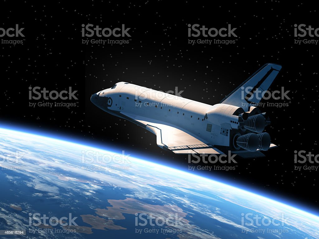Space Shuttle In Space stock photo