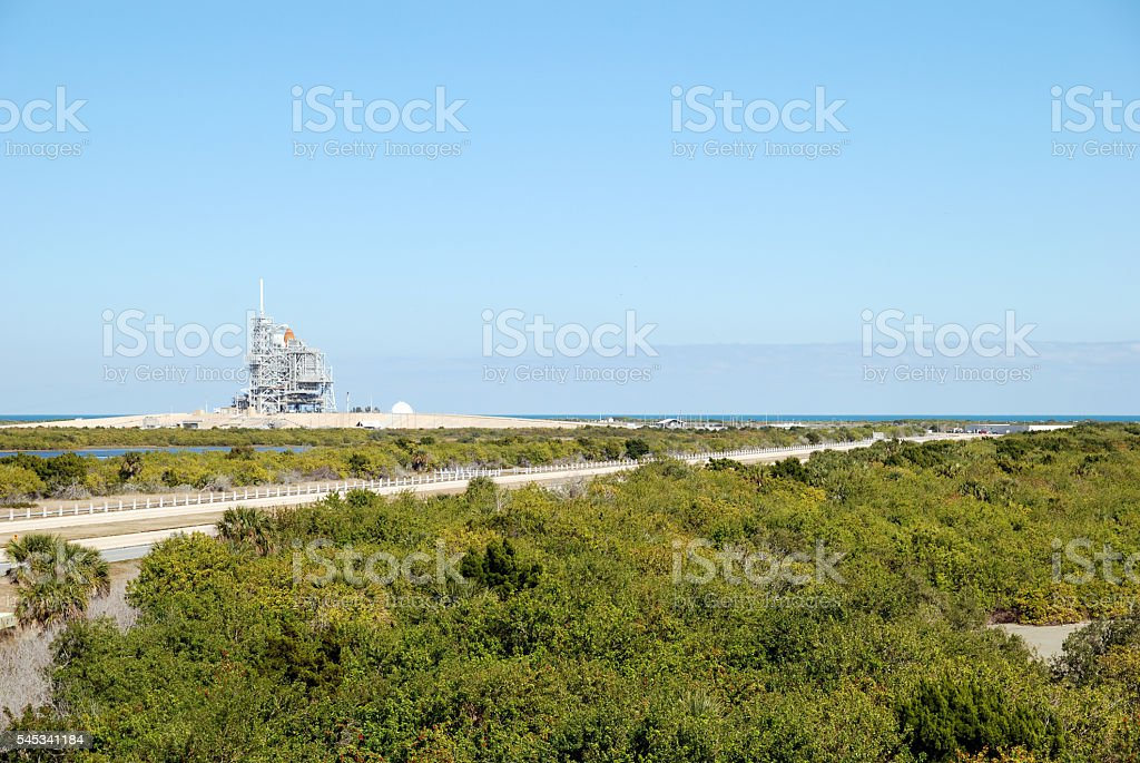 Space shuttle launch platform stock photo