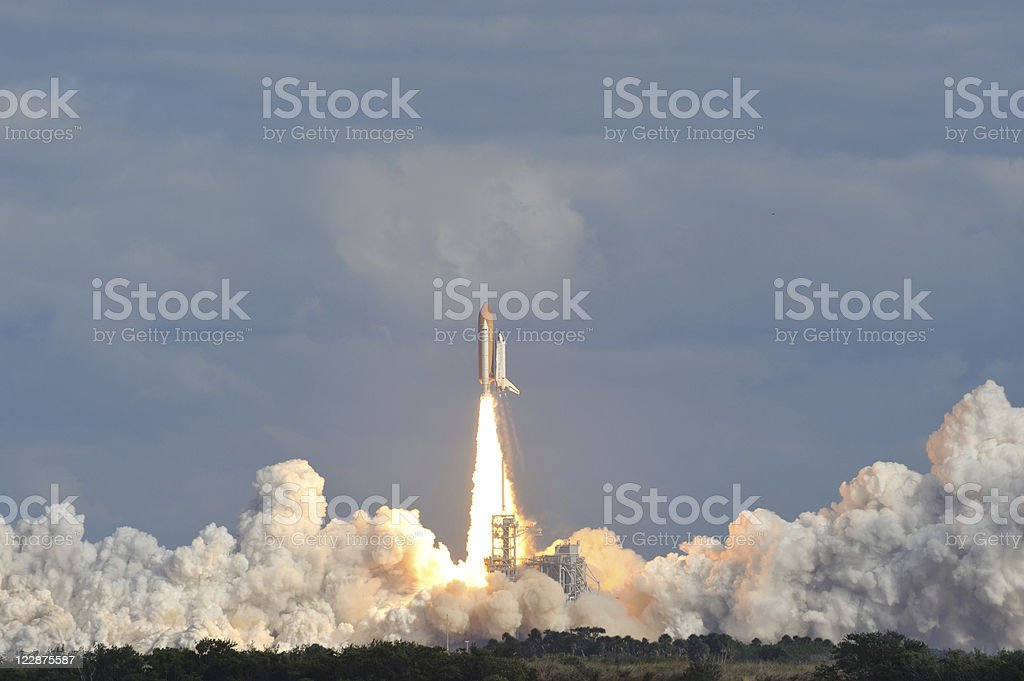 Space Shuttle Lift Off stock photo
