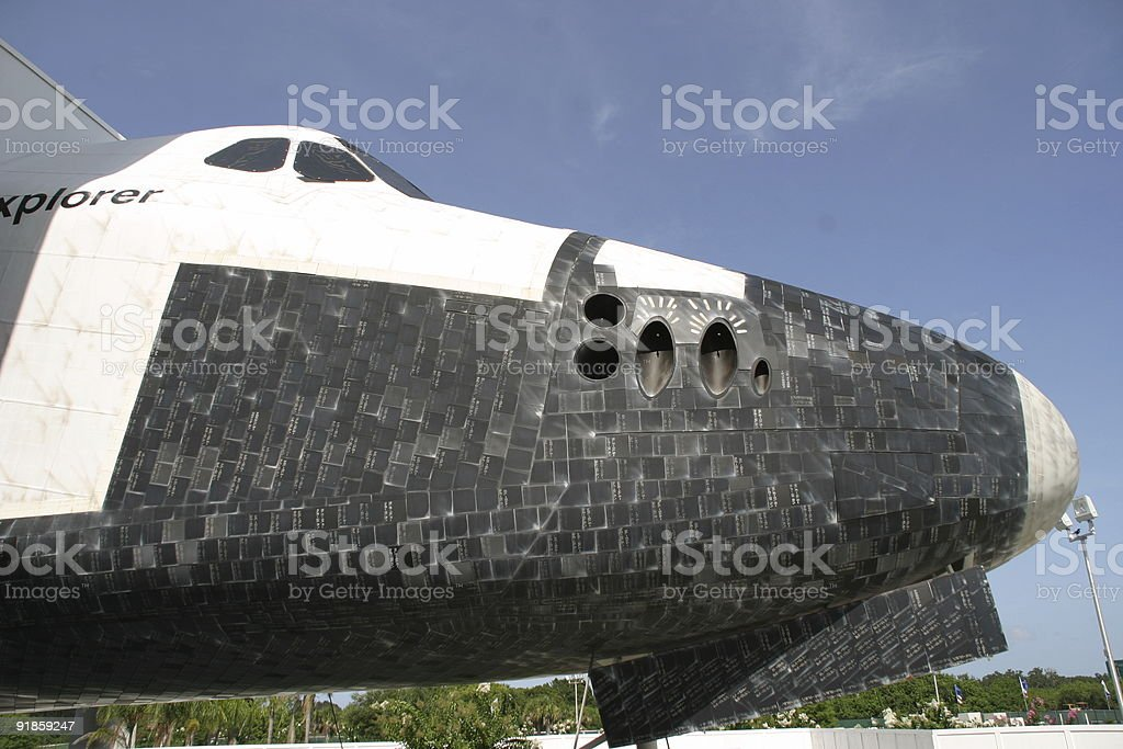Space shuttle nose stock photo