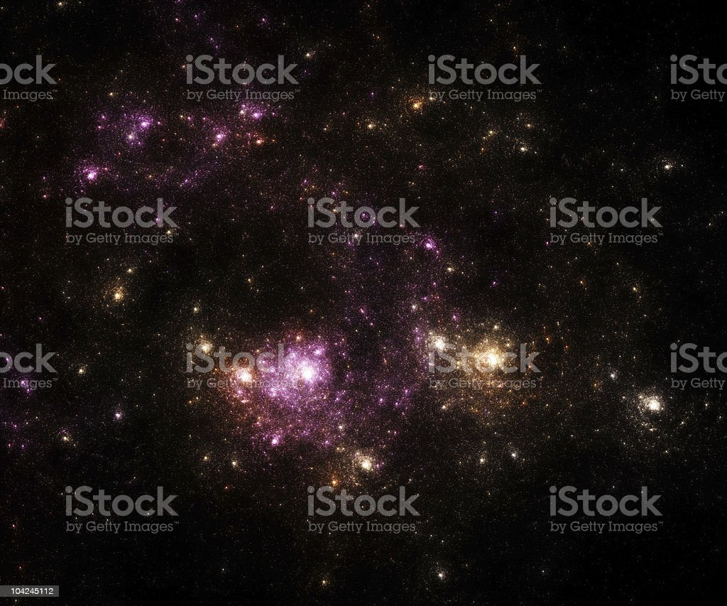 Space stars and nebula background royalty-free stock photo