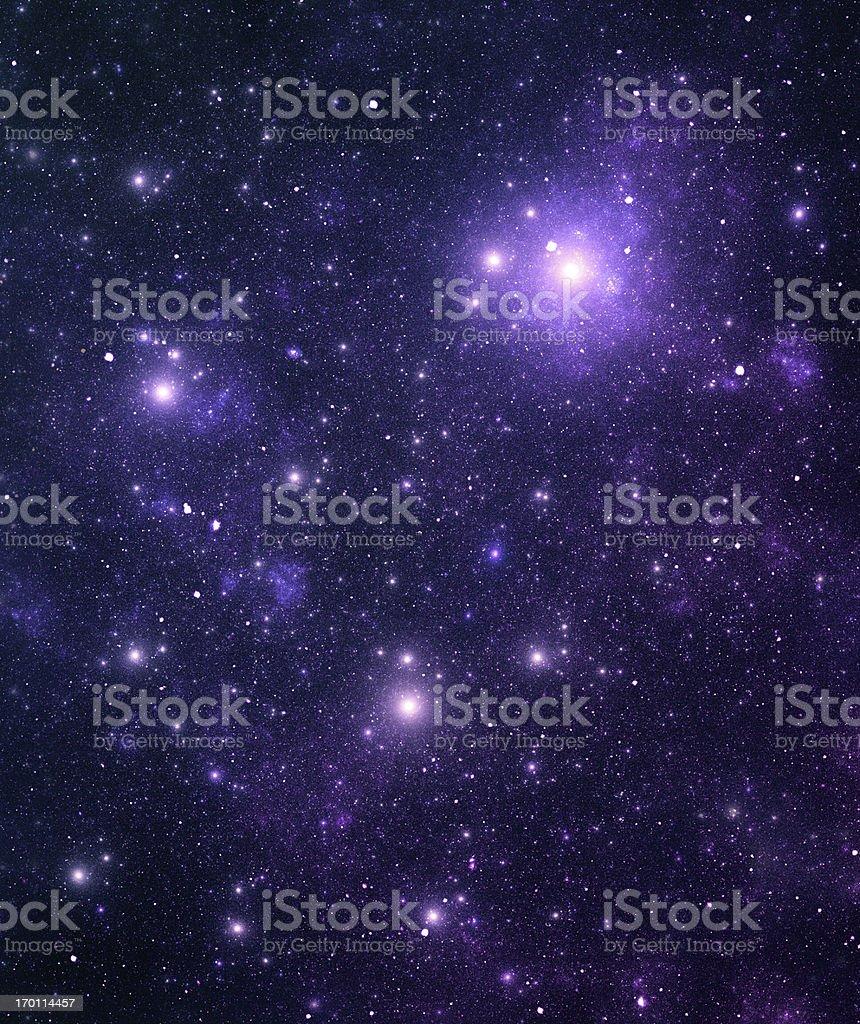 Space stars stock photo