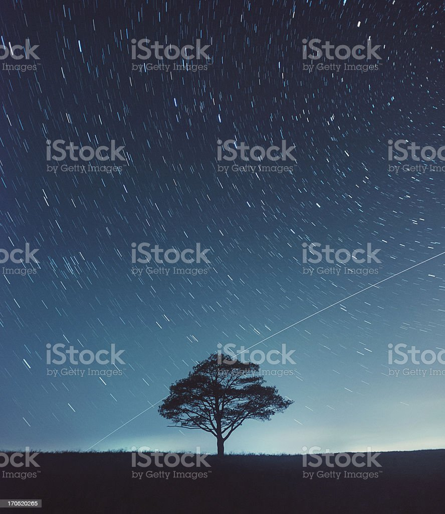 Space Station Flyby stock photo