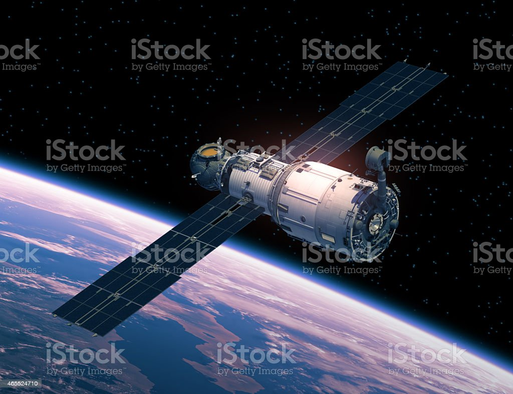 Space Station In Space stock photo