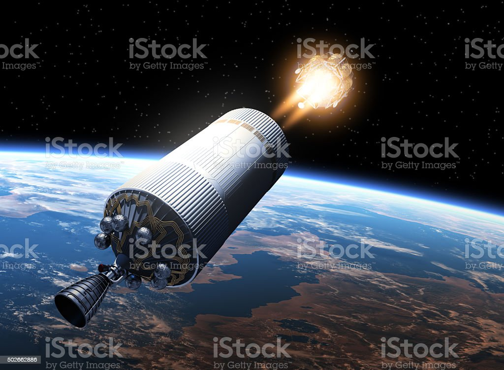 Space Station Launch Into Space stock photo