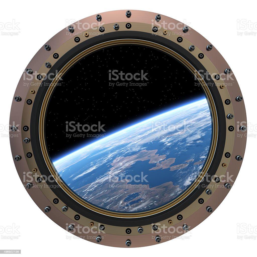 Space Station Porthole stock photo