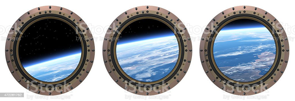 Space Station Portholes stock photo