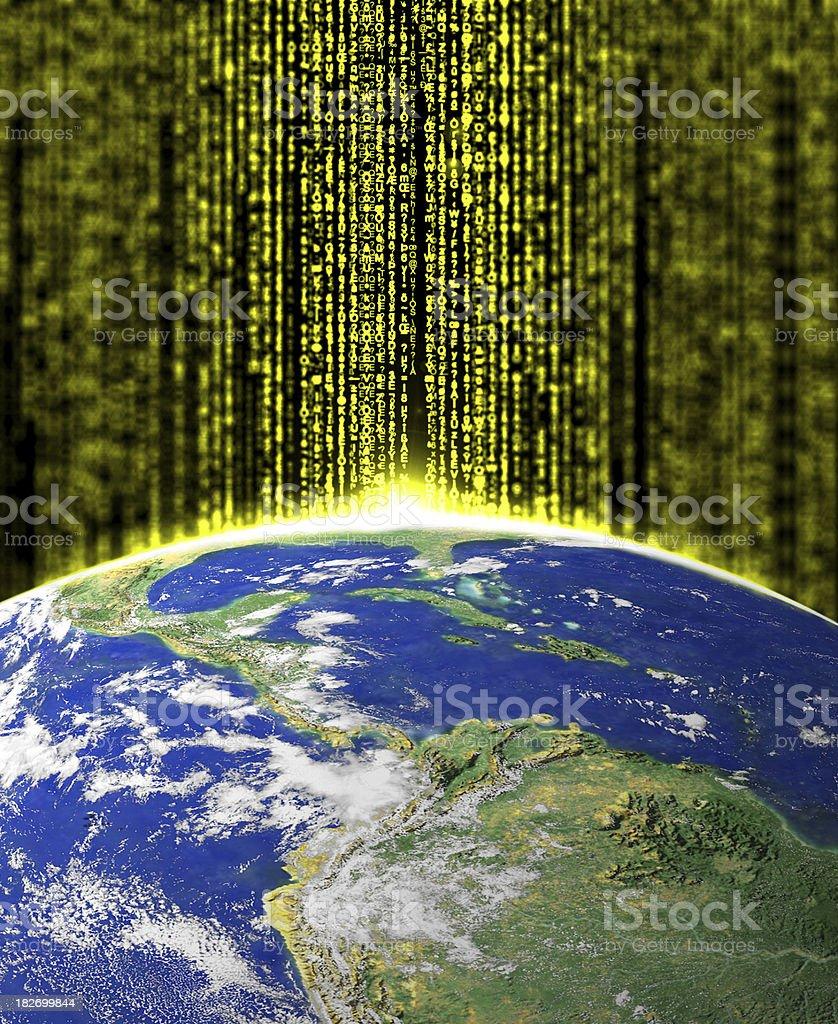 space sunrise random hexadecimal codes like matrix style royalty-free stock photo