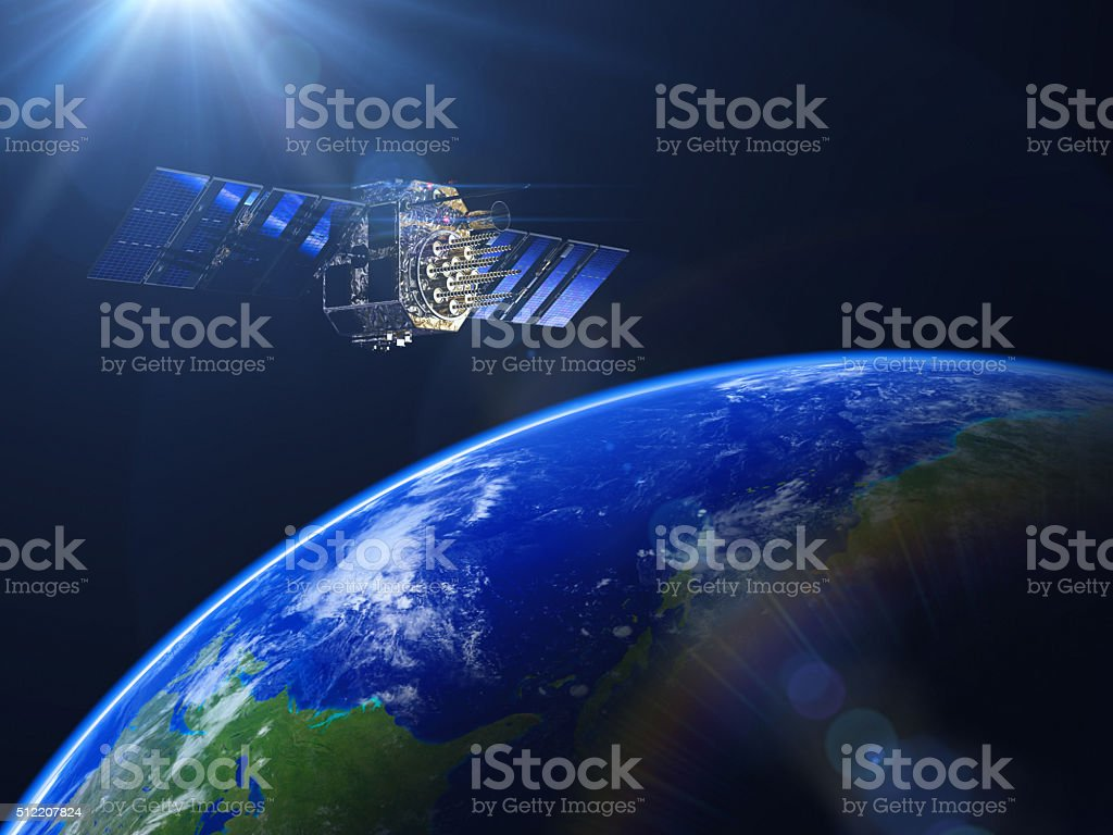 Space Technology stock photo
