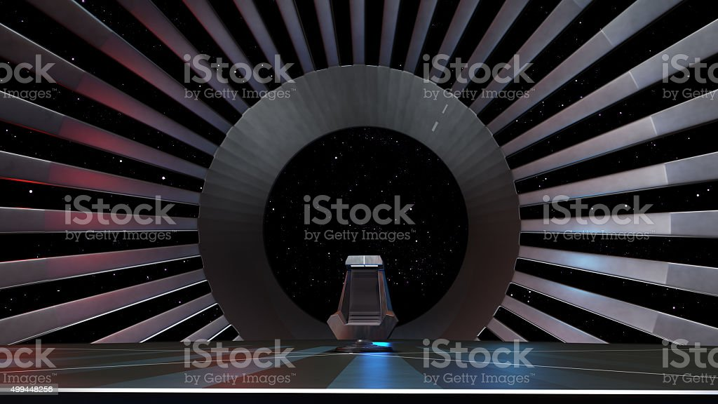 Space Throne, ready for comp of your characters. stock photo