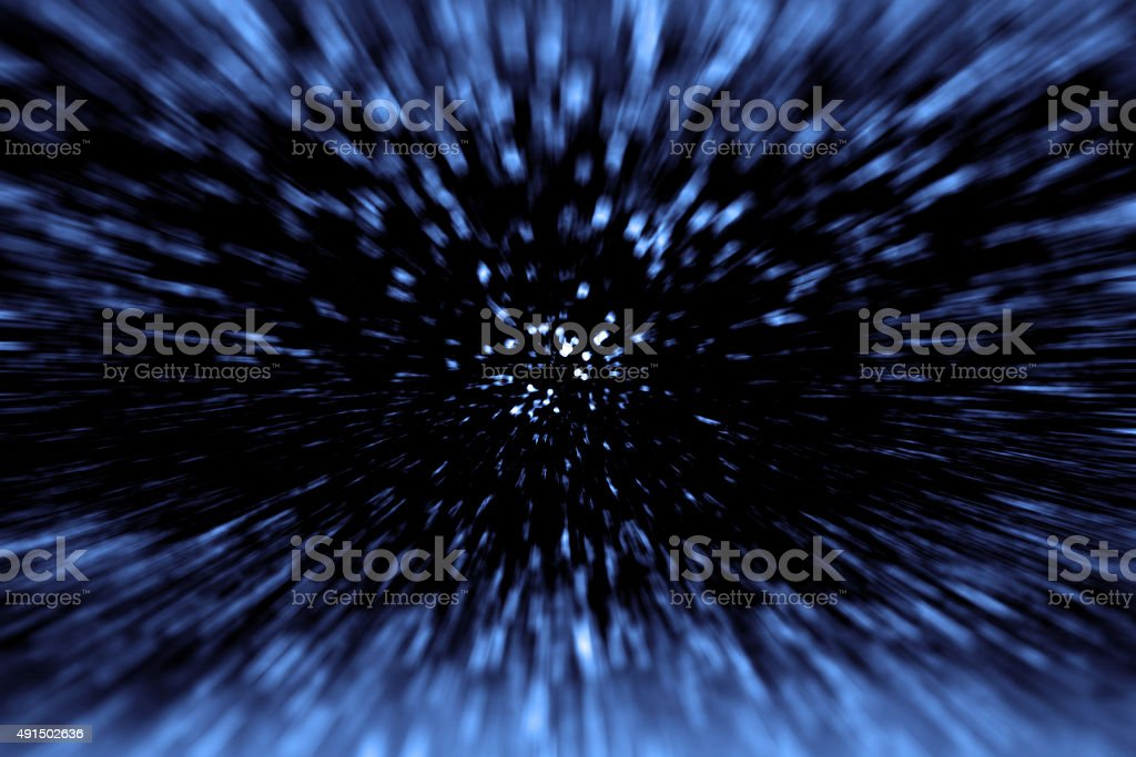 Space Time Travel and Big Bang stock photo