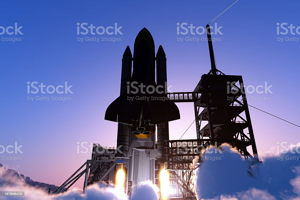 Space transport royalty-free stock photo