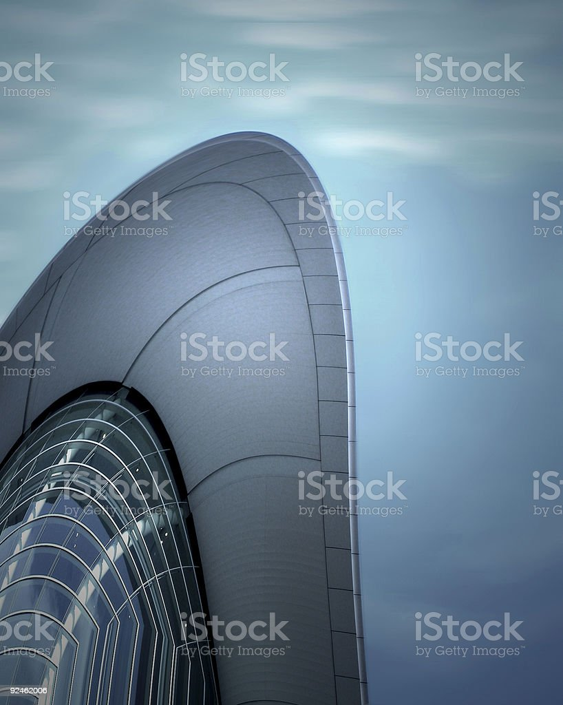 Spaceage building royalty-free stock photo