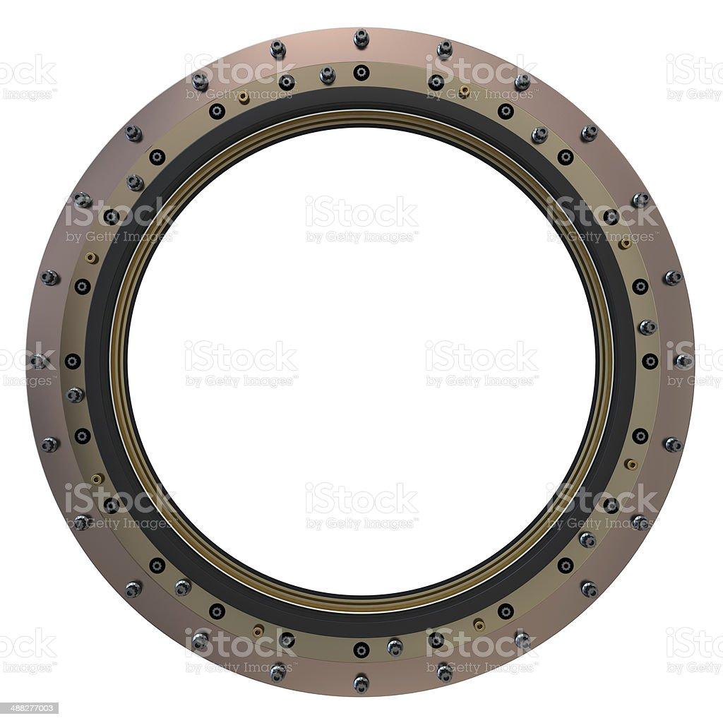 Spacecraft Porthole. stock photo