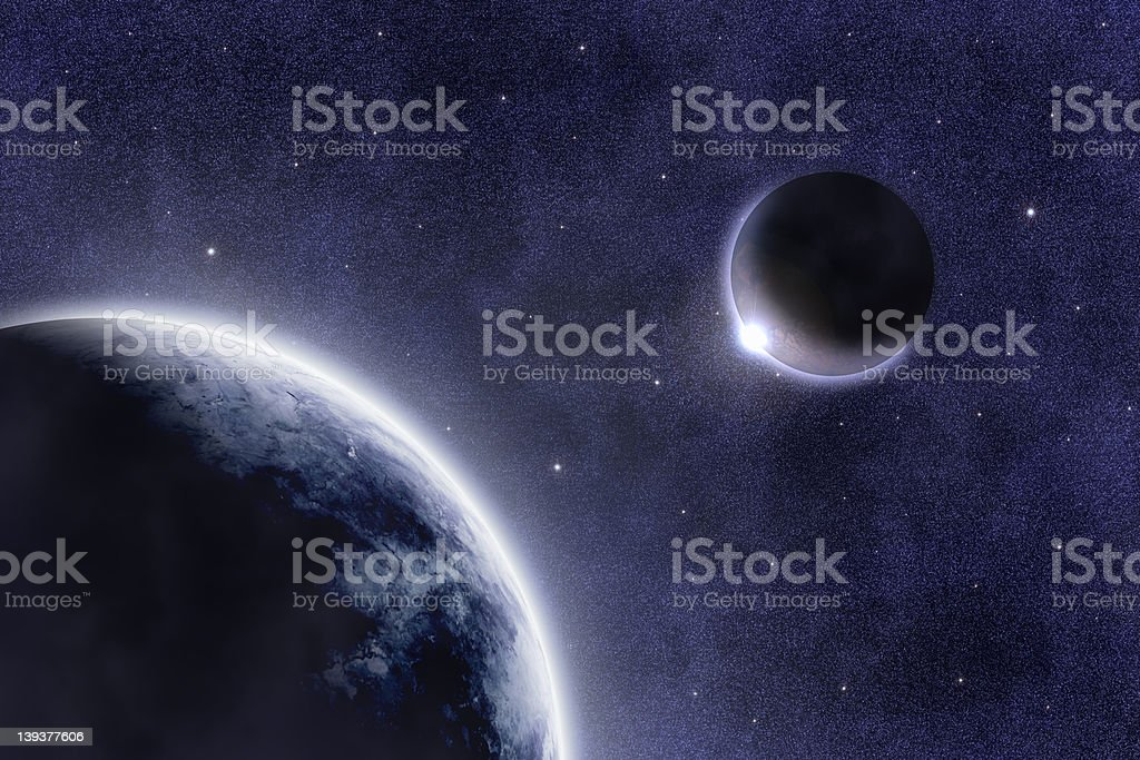 M 667 Spacescape royalty-free stock photo