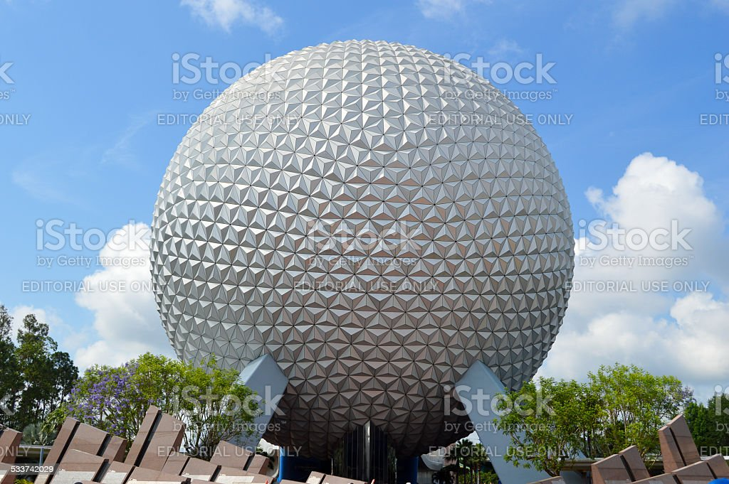 Spaceship Earth at Epcot stock photo