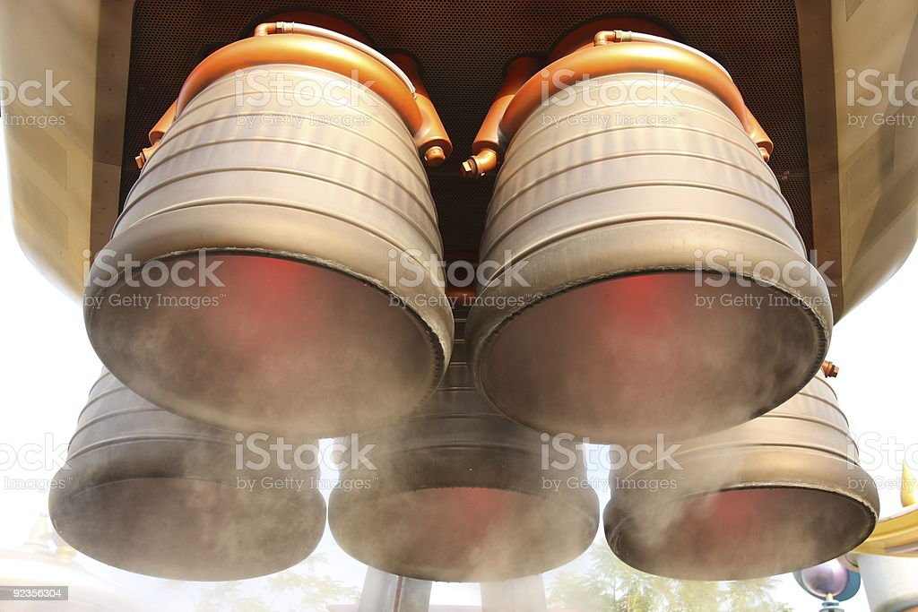 Spaceship Exhaust royalty-free stock photo