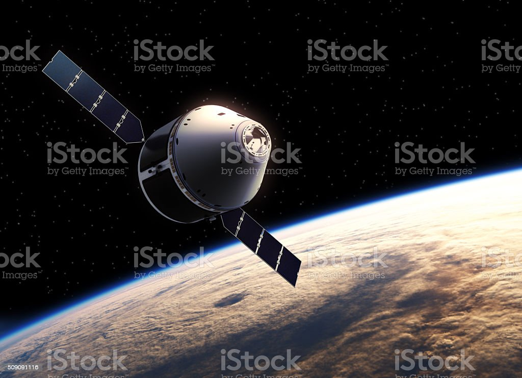Spaceship In Space stock photo