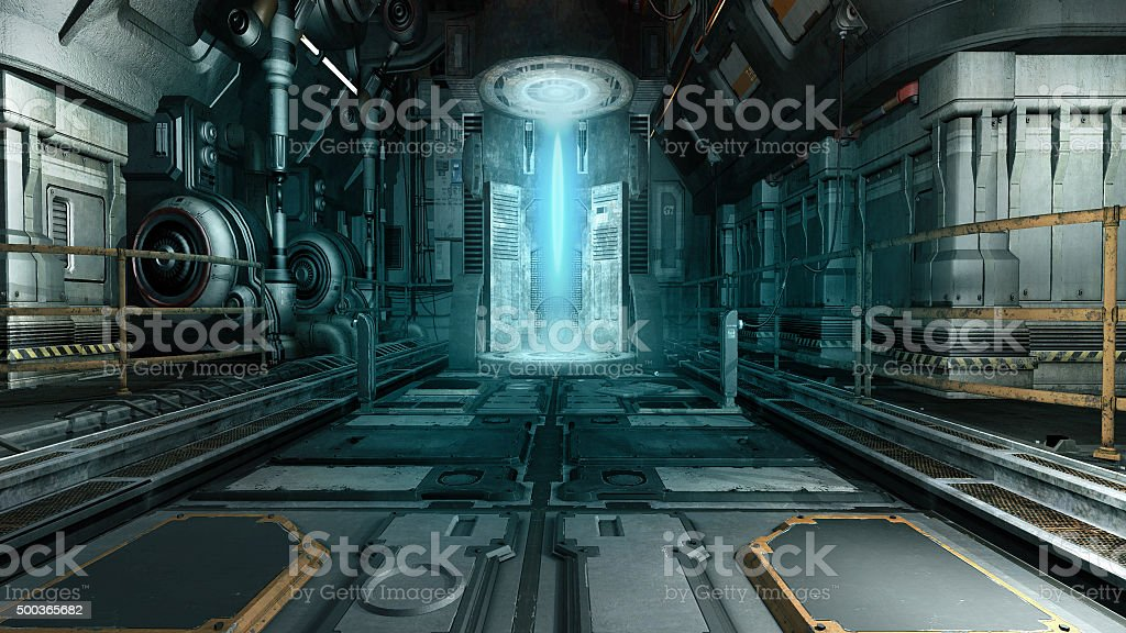 Spaceship interior stock photo