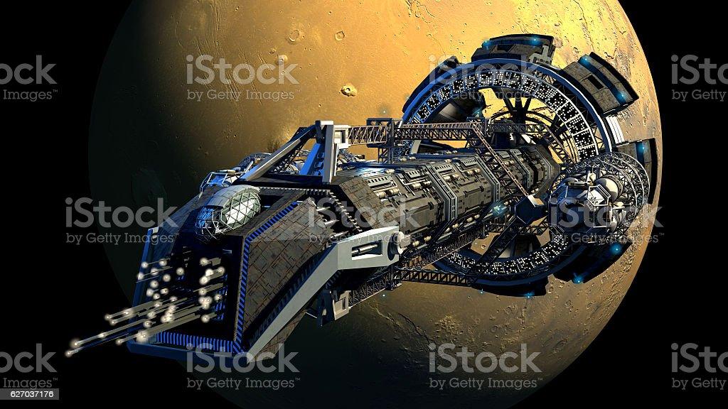 3D Spaceshuttle Illustration stock photo