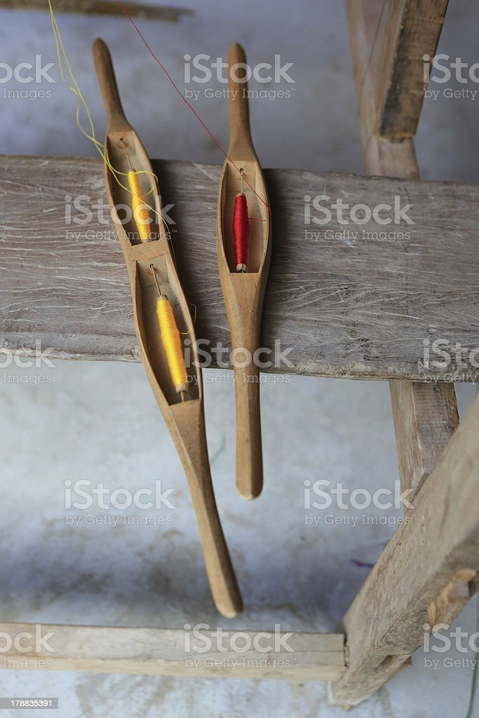 space,Spindle,Shuttle weaving. royalty-free stock photo