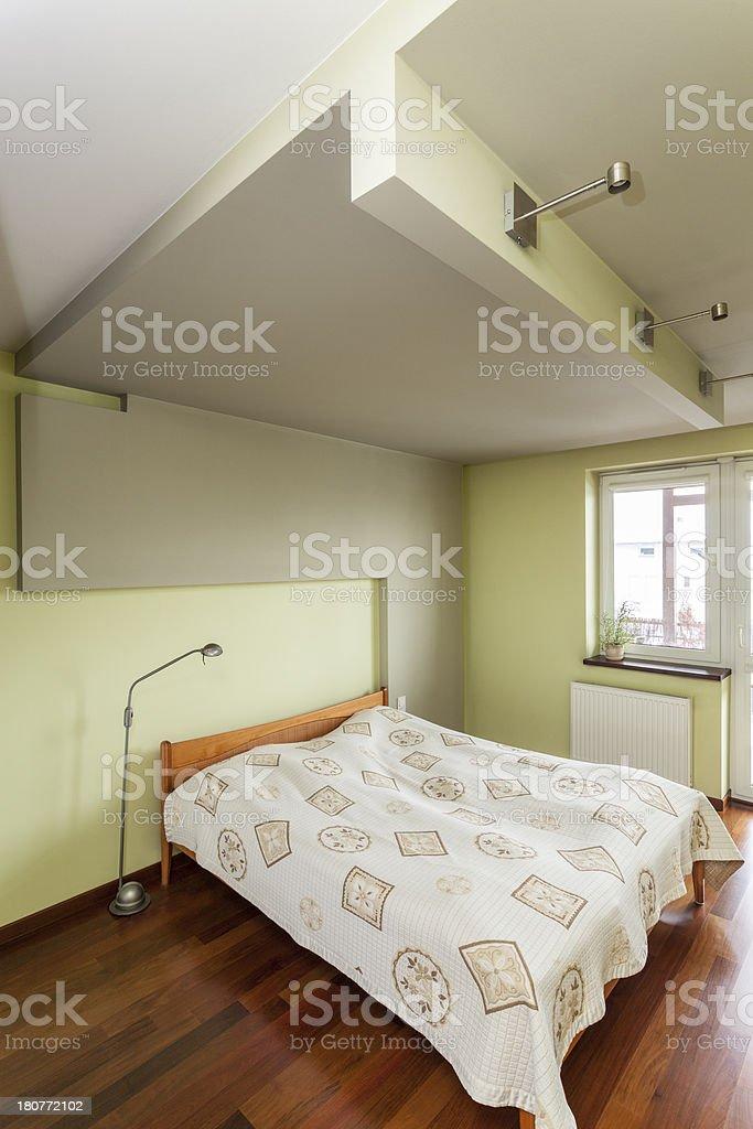 Spacious apartment - Bedroom interior royalty-free stock photo