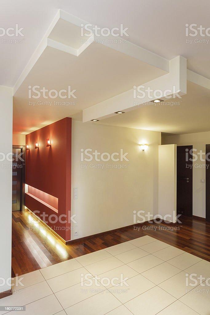 Spacious apartment - hall royalty-free stock photo
