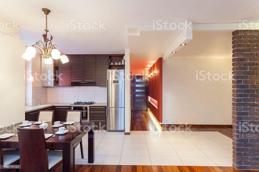 Spacious apartment - Kitchen royalty-free stock photo