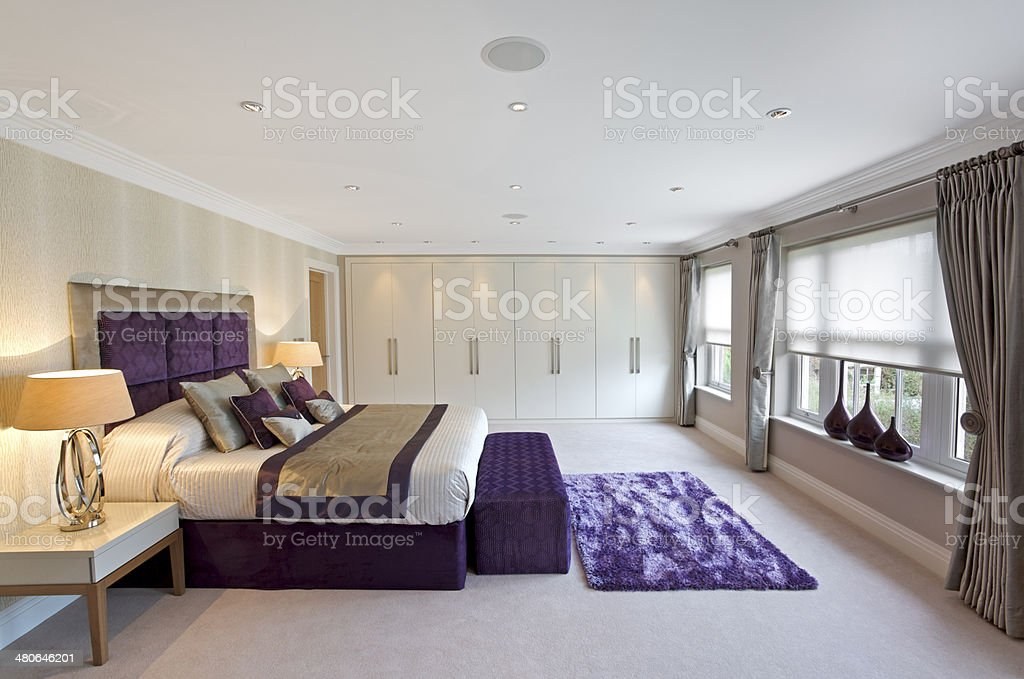 ?spacious bedroom royalty-free stock photo