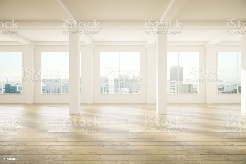 Spacious interior design stock photo