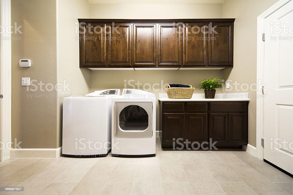 Spacious Laundry Room stock photo