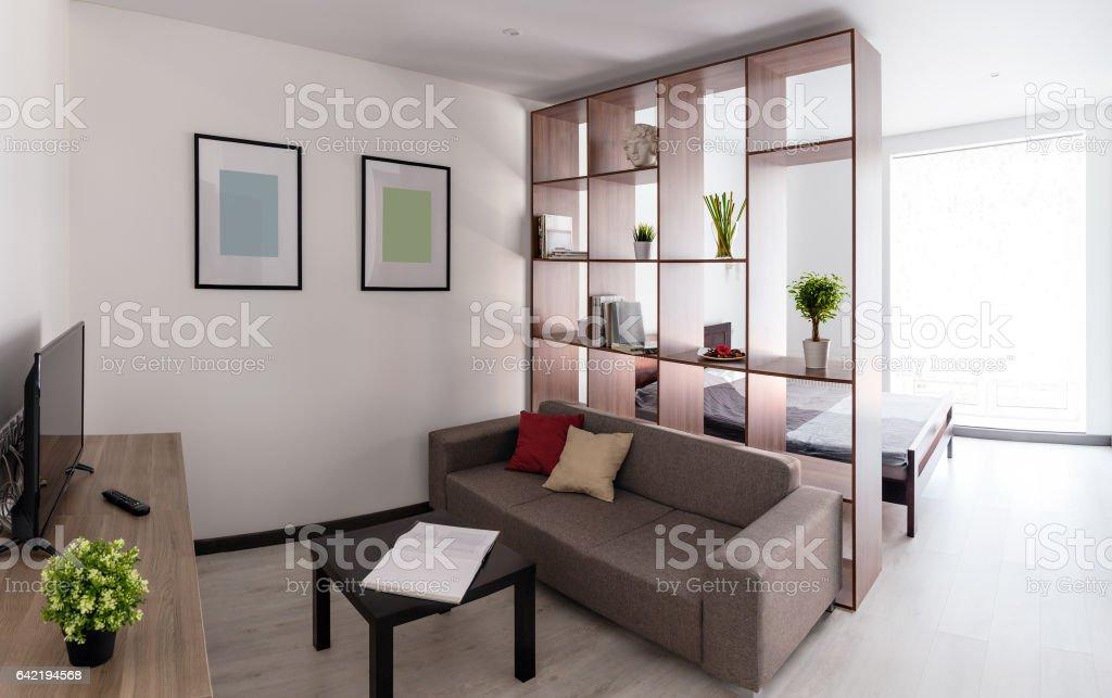 Spacious living room stock photo
