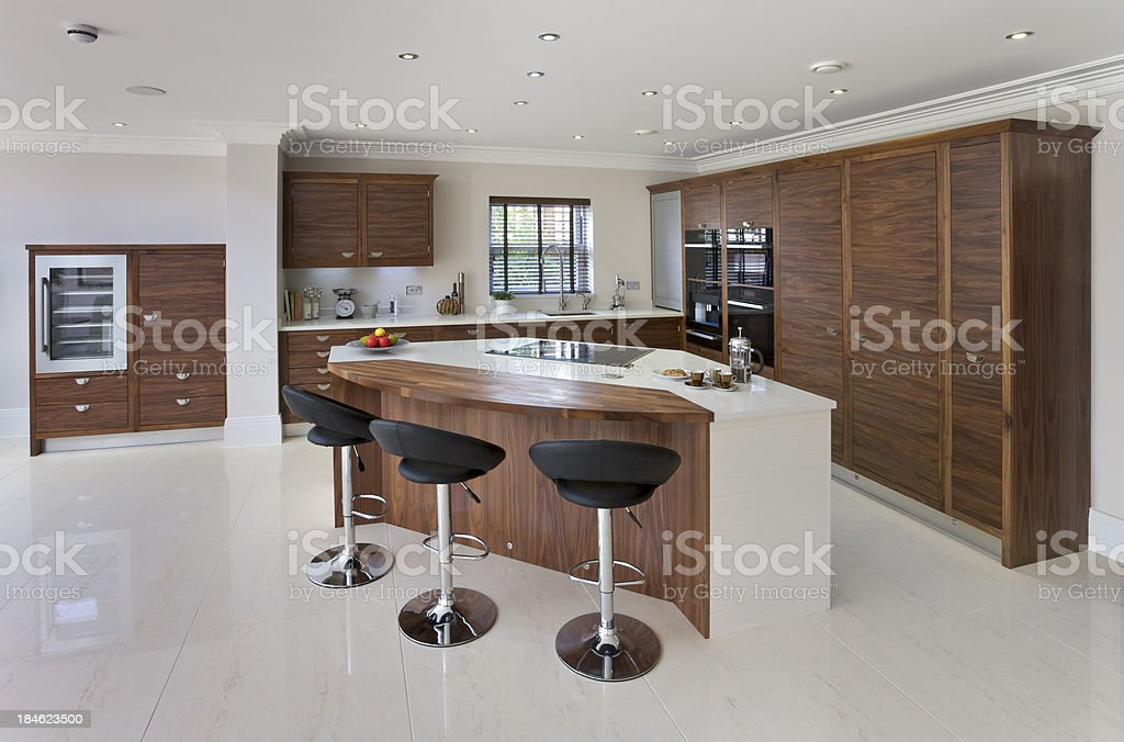 spacious luxury kitchen royalty-free stock photo