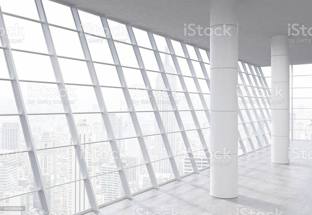 Spacious office interior stock photo