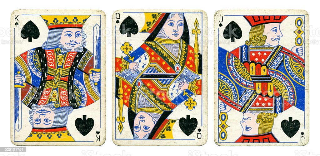 Spades court cards Victoria Diamond Jubilee playing cards 1897 stock photo