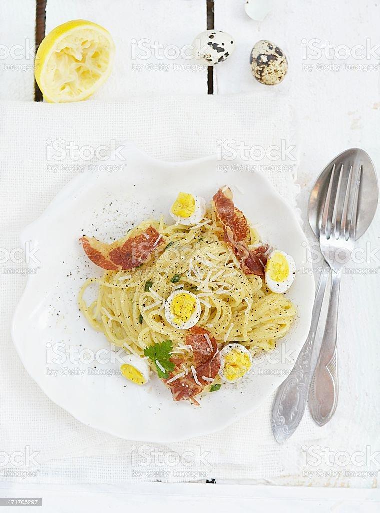 spagetti carbonara royalty-free stock photo