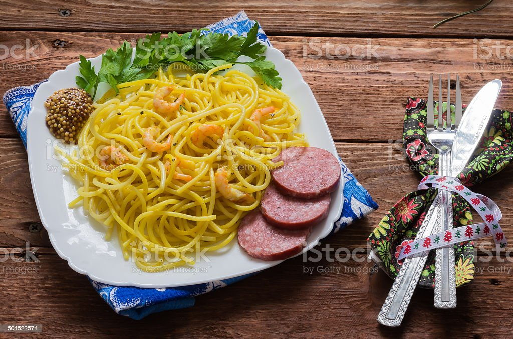 Spagetti del Mare stock photo