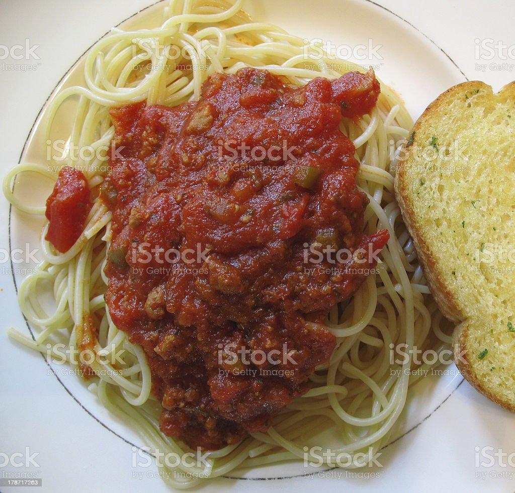 Spagetti foto stock royalty-free