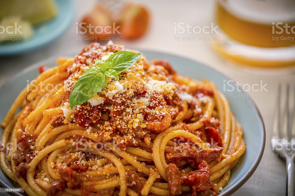Spaghetti al pomodoro! royalty-free stock photo