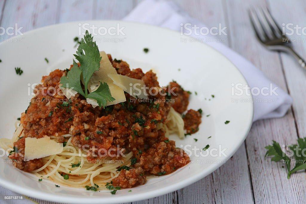 Spaghetti alla Bolognese stock photo