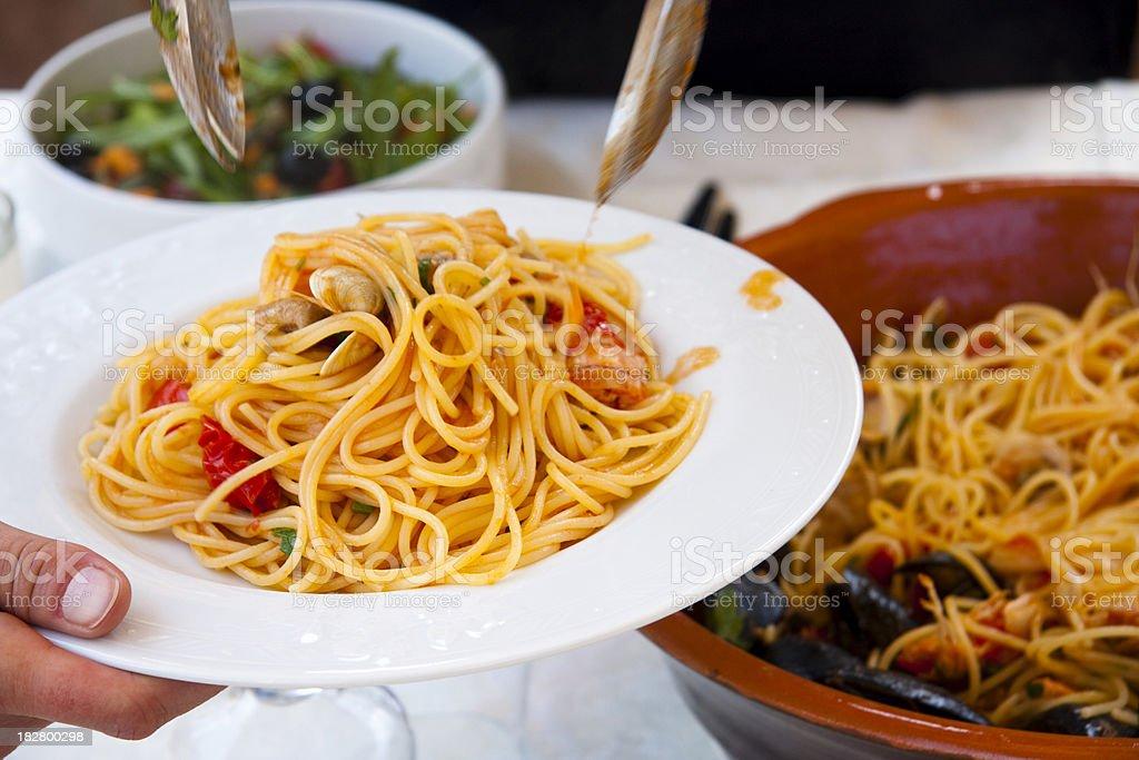 Spaghetti allo Scoglio royalty-free stock photo