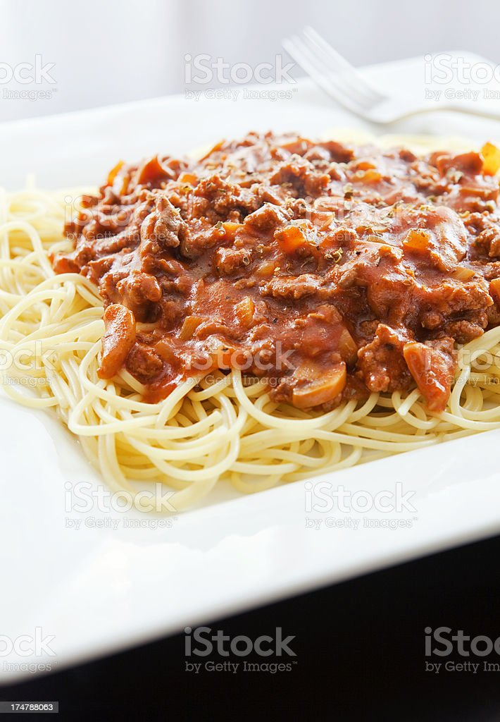 Spaghetti and Meat Sauce royalty-free stock photo