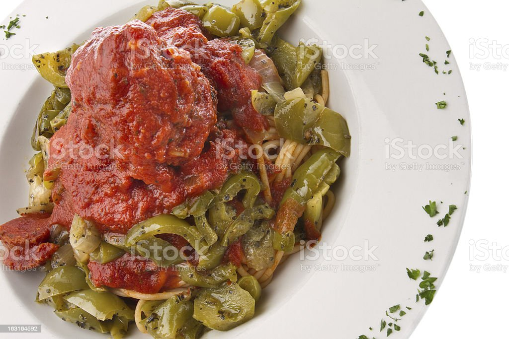 Spaghetti and Meatball royalty-free stock photo