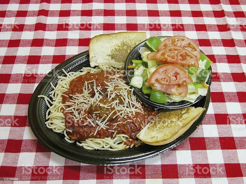 Spaghetti and meatball royalty-free stock photo