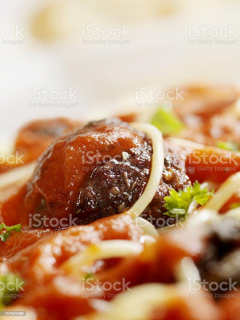 Spaghetti and Meatballs royalty-free stock photo