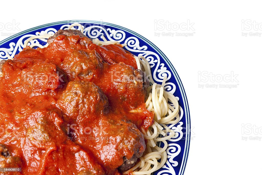 Spaghetti and Meatballs royalty-free stock photo