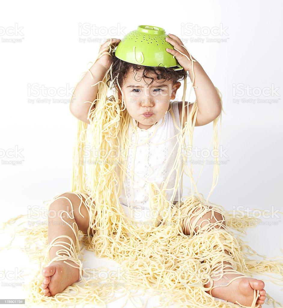 Spaghetti Baby royalty-free stock photo